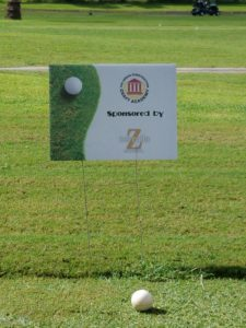 Sponsorship Sign on Golf Course