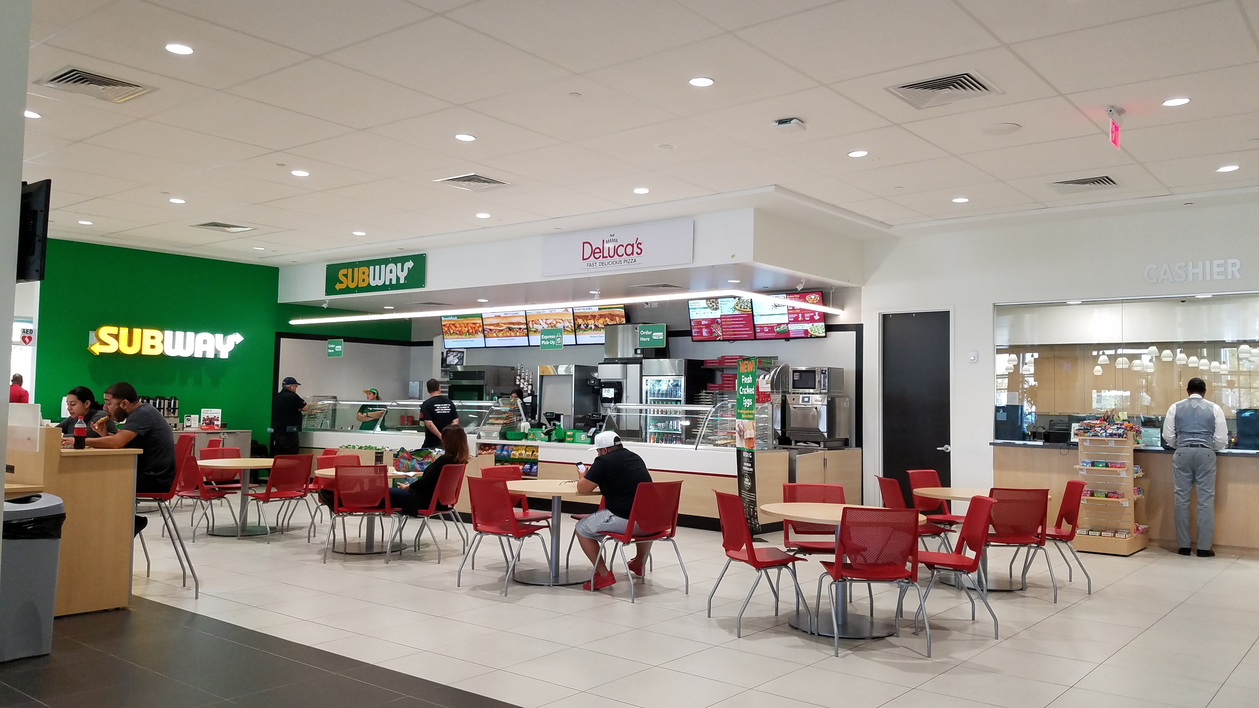 Subway in the building
