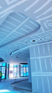 More covered drywall ceiling