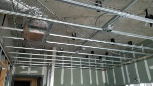 Kinetic Ceiling being installed