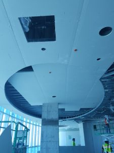 Ceiling Tiles in a Circle