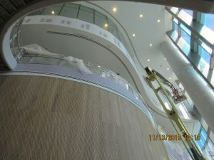 View from the ground floor up 2 stories